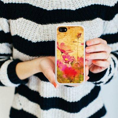 Apple iPhone 4 Housse Étui Silicone Coque Protection Plantes Plantes couleurs Housse en silicone blanc