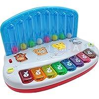 Tastiera Bambino con le palle che rimbalzano - Colorful Piano interattivo - pianoforte con luce e suono - strumenti musicali - pianoforte per i pi? piccoli