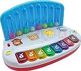 Baby Keyboard mit springenden Kugeln - Bunte Interaktive Klavier - Piano mit Licht und Ton - Musikinstrumente - Klavier für Kleinkinder