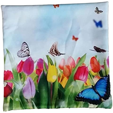 Decorativa fiori cuscino cover federe 40 x 40 cm – FANTASIE multicolore Tulpe