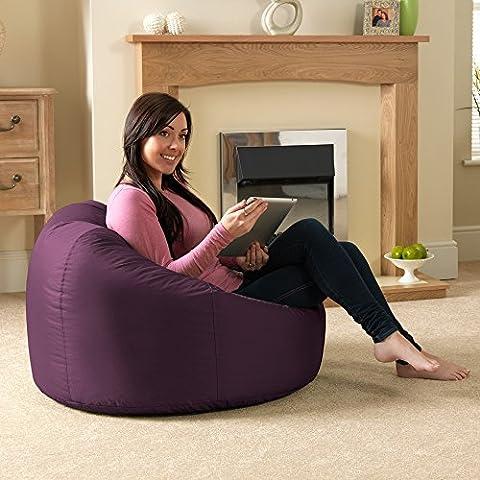 Bean Bag Bazaar® XL Sitzsack Indoor/Outdoor–Extra Large Sitzsäcke Maulbeerviolett