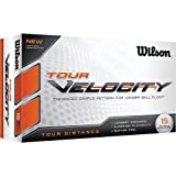 Wilson Tour Velocity Distance Golf Ball 15-Pack White by Wilson