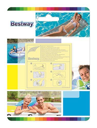 Bestway - 10 Super Patchs de réparation, rustines matelas, bouées, piscines, spas gonflables - surface totale 42,3 cm2