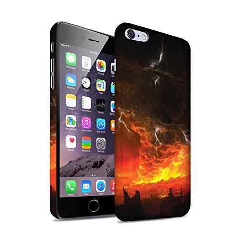 Offiziell Chris Cold Hülle / Matte Snap-On Case für Apple iPhone 6+/Plus 5.5 / Dragonfel Tempel Muster / Gefallene Erde Kollektion Apokalypse