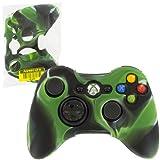 Housse de protection Assecure en silicone souple camouflage vert pour étui de manette Microsoft Xbox 360 en caoutchouc absorbeur de chocs
