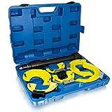 BITUXX universal Federspanner Set für Mc Pherson Federbeine Stoßdämpfer Tuning Tieferlegung Fahrwerk 80-190mm Spannweite 300mm Auto KFZ PKW