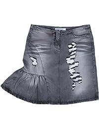 Fornarina Damen Jeans Rock Stonewash Grau Model DISCO BLACK DENIM SKIRT Star Cowgirl WoW Designer Teil Top Angebot