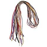 Cordon en cuir de 10 cordons en daim de couleur, cordons en daim cuir, cordes en velours avec rivet doré pour la fabrication de bijoux - largeur de 5mm