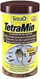 TetraMin (Hauptfutter für alle Zierfische in Flockenform, für ein langes und gesundes Fischleben und klares Wasser, plus Präbiotika für verbesserte Körperfunktionen und Futterverwertung), 500 ml Dose