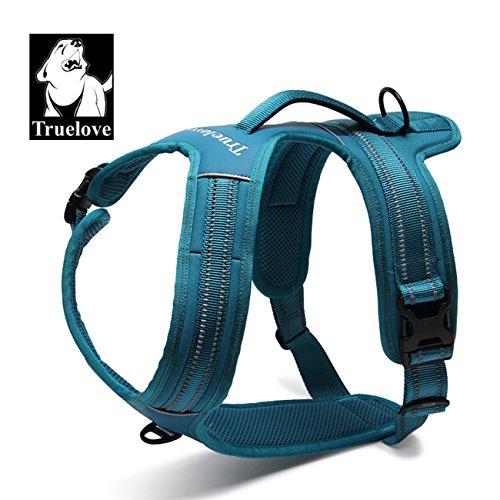 Truelove tlh5551verhindert Zerren Hundegeschirr mit Griff Weich Gepolstert Pet Hundegeschirr Weste, reflektierendes Material, Strong Oxford Außenschicht für größere Hunde Jetzt erhältlich, XS, Blau