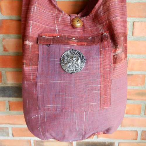 BenThai Products, Borsa a tracolla donna Rosso rosso large rosso