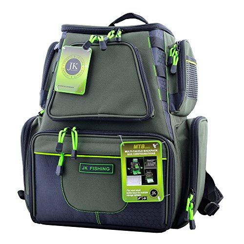 JK Sports & Leisure Tactical - mochila tactica con bandejas de almacenamiento para cebos y herramientas