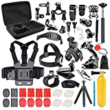 Followsun 60-In-1 Sports Action Camera Accessories Kit for GoPro Hero Session/5 Hero 1 2 3 3+ 4 5 SJ4000 SJ7000 DBPOWER AKASO VicTsing APEMAN WiMiUS Rollei QUMOX Lightdow Campark And Sony Sports DV