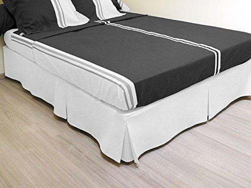 Cache sommier plateau 3 plis 90x190 cm blanc