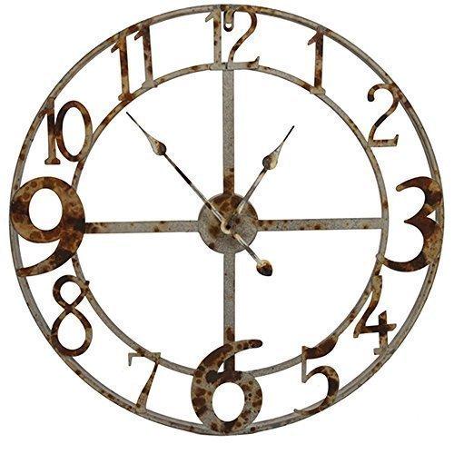 Belle Maison Large Zinc Steeple Clock, 73cm