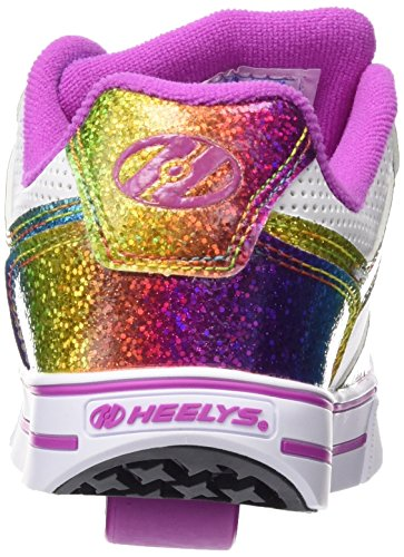 Heelys - Motion Plus 770631, Scarpe con 1 rotella Bambina Multicolore (multicolore (White/Rainbow/Pink))