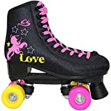 Cox Swain Kinder Rollschuhe -JAM2- Rollerskates- ABEC5, Colour: Black, Size: 39