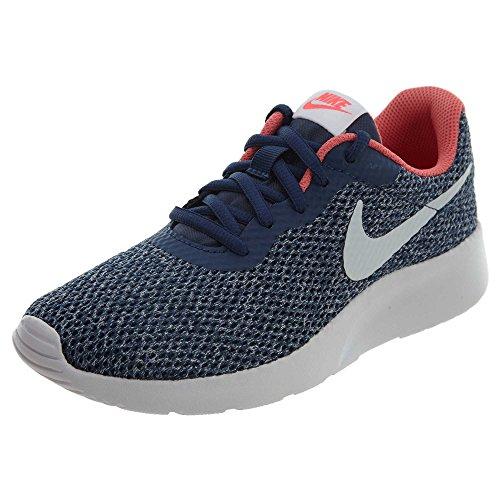 Nike Wmns Tanjun, Chaussures de Gymnastique Femme Navy/Vast Grey-sea Coral