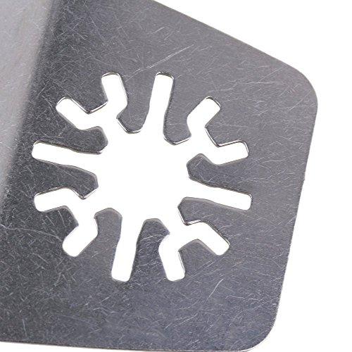 cnbtr Silber 52MM BREITE Edelstahl oszillierendes Werkzeug Universal Flexible Klinge Schaber Multi Tool Set von 5