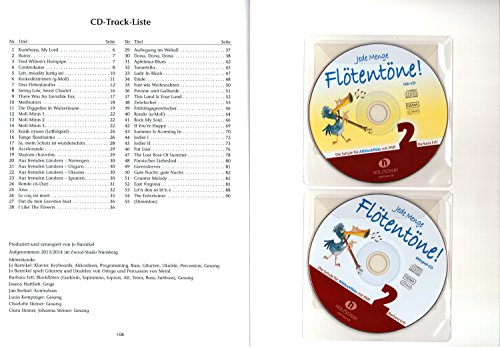 jede menge flotentone band 2 die schule fur sopranblockflote mit pfiff incl 2 cds