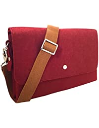 92028920eb1b Ladies Felt Cross Body Bag by Hawkins Collection Quality Made with  Adjustable Strap