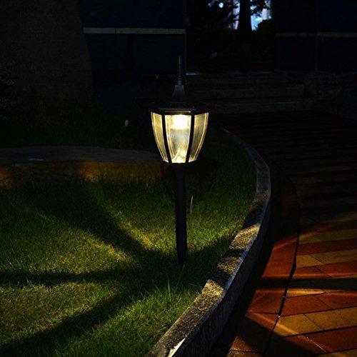 JAYLONG Lampes solaires 2 pcs lampe de paysage en plein air pour Pathway, chemin, jardin, pelouse, cour, couloir, patio, porche avec Smarthing 56 cm sans fil, étanche, B