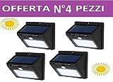 4 Lampada Solare Esterno Giardino Faretto Fotovoltaico Sensore - Best Reviews Guide
