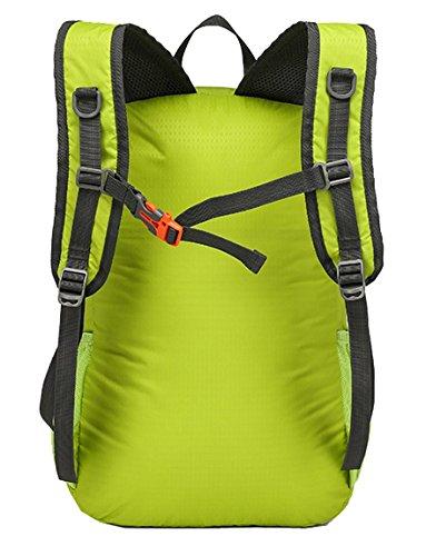 lethigho leicht zusammenklappbar Travel Rucksack verstaubarer handlichen Tasche wasserabweisend Wandern Tagesrucksack strapazierfähig Schultern Tasche für Camping Klettern Outdoor Reisen Orange