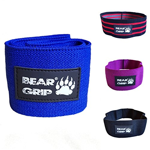 Price comparison product image BEAR GRIP Hip Band Circle - Glute Activation Band Heavy Elasticated Cotton in two sizes ideal for warm ups … (Blue,  Large)
