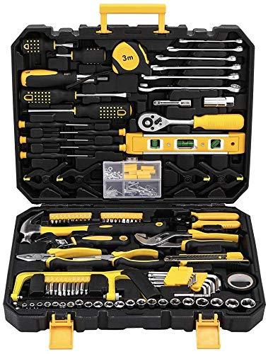 Juego de herramientas para mecánica (198 piezas, herramientas domésticas con maletín de herramientas para hombres y mujeres)