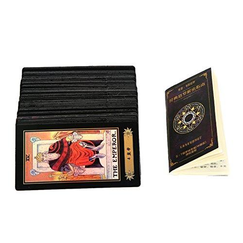 Carta de Tarot Vintage 78 Tarjetas Jinete Waite Juego de Contar Futuro con Caja Colorida (4,33 x 2,36 Pulgadas)