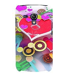 Print Masti Designer Back Case Cover for Samsung Galaxy S3 Mini I8190 :: Samsung I8190 Galaxy S Iii Mini :: Samsung I8190N Galaxy S Iii Mini (Bright Heart Cirle Watch Cream Yellow)