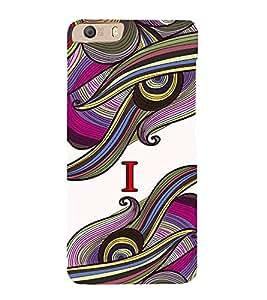 Fabcase abstract colouful vibrant design alphabet I Designer Back Case Cover for Micromax Canvas Knight 2 E471