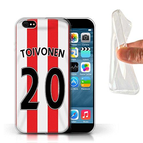 Offiziell Sunderland AFC Hülle / Gel TPU Case für Apple iPhone 6S / Khazri Muster / SAFC Trikot Home 15/16 Kollektion Toivonen