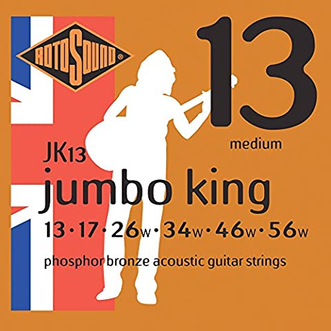 Rotosound Jumbo King Phosphor stringhe per chitarra acustica