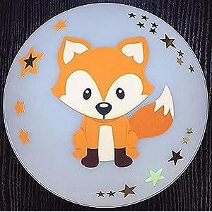 Deckenleuchte/Wandlampe * Fuchs Fox orange 3 * auch LED - mit/ohne Name