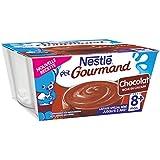 Nestlé Bébé P'tit Gourmand Saveur Chocolat - Laitage dès 8 Mois - 4 x 100g - Lot de 6