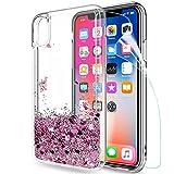 LeYi Coque iPhone XS/iPhone X Etui avec Film de Protection écran, Fille...