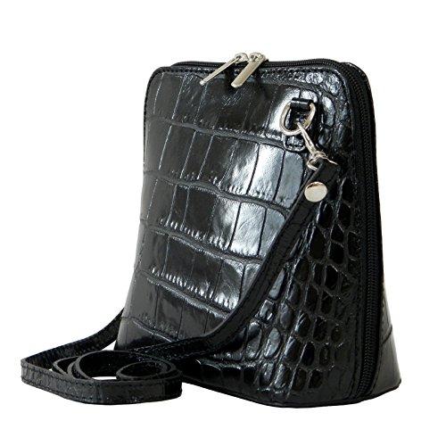 ad7d8d99b96de Vera Pelle Handtaschen Italien Echt Leder Schultertasche Frauen Damen Tasche  Handtasche Ital Bag Schwarz Crock ...