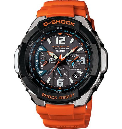 Casio Quartz, Orange Band Black Dial - Unisex Adult Watch GW3000M-4A