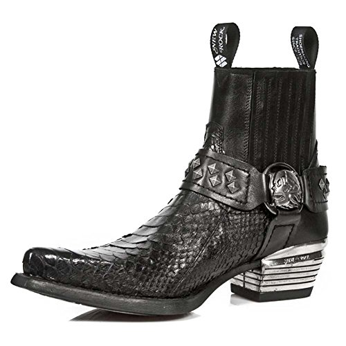 New Rock Dallas Schwarz Stiefel M.7995PT-S4 BLACK, BLACK