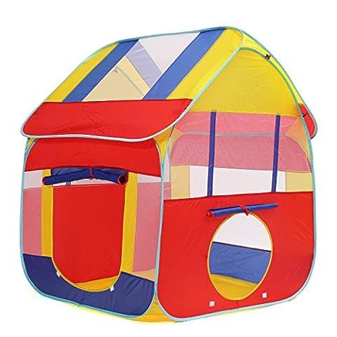 Tente Enfant, Cadeau pour Enfant Baban Tente Extérieure Tente Balles, Pop Up Piscine à Balles Kids Tent, Tente Boule L'intérieur ou à L'extèrieur en Tissu