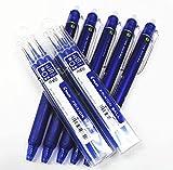 Pilot Frixion Ball Knock / einziehbare ausradierbares Gel färbt Pens.fine-Punkt ein - 0.5 mm, Blaue Tinte. Wert Satz von 5 & 6 Gel Tinte Kugelschreiber Nachfüllung Schachteln, mit unserem Geschäft originale Produktbeschreibung)