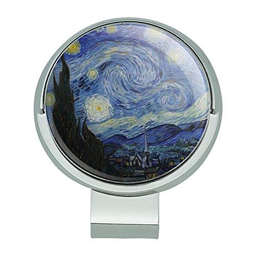 Graphics and More Starry Night von Vincent Van Gogh Golf Hat Clip mit magnetischem Ballmarker
