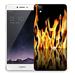 Snoogg Furious Fire Designer Protective Back Case Cover For OPPO R7S