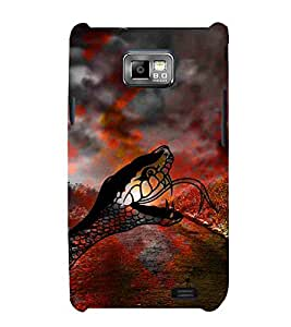For Samsung Galaxy S2 i9100 :: Samsung I9100 Galaxy S II dangerous snake ( dangerous snake, snake, road, way, field ) Printed Designer Back Case Cover By CHAPLOOS