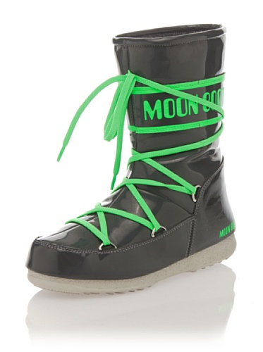 Moonboot Damen Stiefel anthrazit/grün