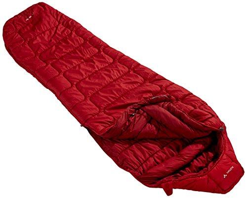 VAUDE KUNSTFASER SIOUX 800 XL SYN - SACO DE DORMIR MOMIA PARA ACAMPADA  COLOR MULTICOLOR (DARK INDIAN RED)  TALLA LEFT