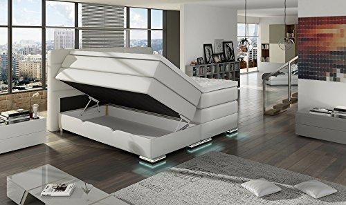 Designer bett led  XXL ROMA Boxspringbett mit Bettkasten Designer Boxspring Bett LED ...