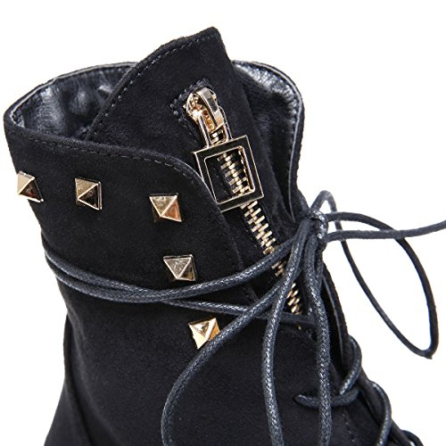 Donna Nera La Fashionista Stivali Rangers Y6Wwx8